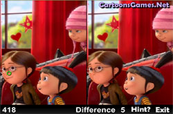 Despicable me - see the differences
