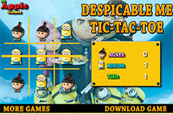 Despicable me tic tac toe